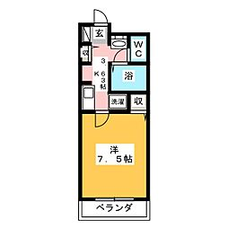 フィネス昭和町[1階]の間取り