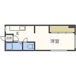 北海道札幌市西区二十四軒一条6丁目の賃貸アパートの間取り