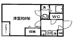 宮城県仙台市太白区西中田3丁目の賃貸アパートの間取り