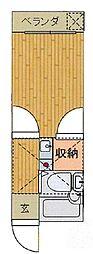 埼玉県さいたま市桜区田島2丁目の賃貸アパートの間取り