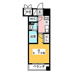 プライムアーバン鶴舞[14階]の間取り