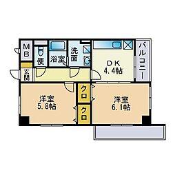 グランドシャルマン桜坂[1階]の間取り