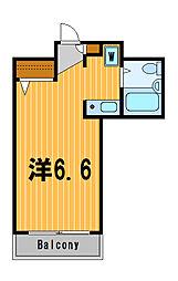 神奈川県横浜市港北区綱島西2の賃貸マンションの間取り