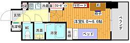 (仮)豊津駅前学生会館 4階1Kの間取り
