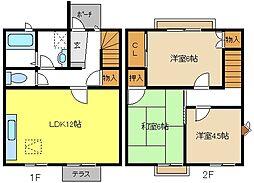 [テラスハウス] 愛知県名古屋市西区比良2丁目 の賃貸【/】の間取り