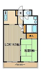 第三平野ハイツ[2階]の間取り