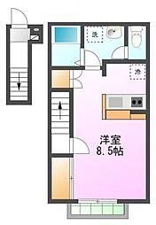 STUDIO(ステュディオ)[2階]の間取り