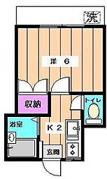 メゾンドグリーン[1階]の間取り