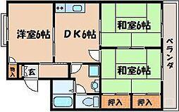 広島県広島市東区中山新町1丁目の賃貸アパートの間取り