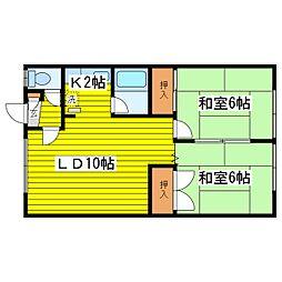 北海道札幌市東区北二十七条東9丁目の賃貸アパートの間取り