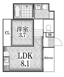 ハーモニーテラス旗屋[3階]の間取り