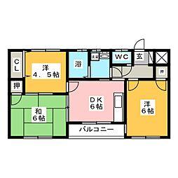 シャトー今井[2階]の間取り