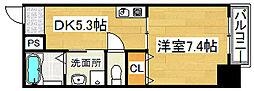 ロッソ北花田[9階]の間取り