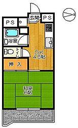 福井ビル[203号室]の間取り
