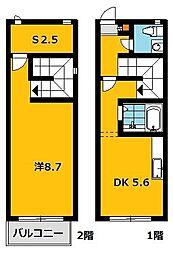 エスポワール鶴田[106号室]の間取り
