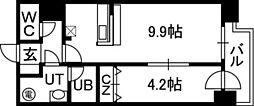 アルファタワー札幌南4条[01106号室]の間取り