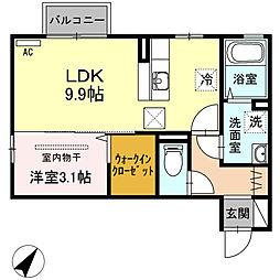 ラ・ランド上新栄A[102号室]の間取り