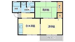 ディアスカワバタ[2階]の間取り