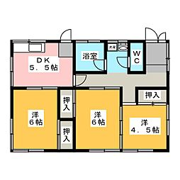 [一戸建] 静岡県富士宮市大中里 の賃貸【/】の間取り