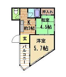 神田ビル[4階]の間取り