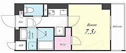 アイボリー 6階1Kの間取り