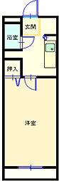 マンショングレイス[203号室]の間取り
