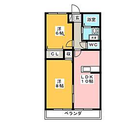 サクラハイムII[2階]の間取り