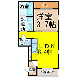 ハーモニーテラス六番町(ハーモニーテラスロクバンチョウ)[3階]の間取り