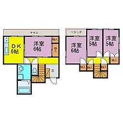 [一戸建] 愛知県半田市出口町1丁目 の賃貸【/】の間取り