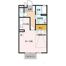 セジュール藤井B棟[1階]の間取り