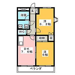 SUNSHAIN浅井[2階]の間取り