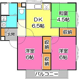 オークハイツ西所沢II[1階]の間取り