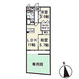 ハイツみずき 1階[102号室]の間取り