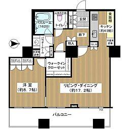 ザ・梅田タワー 37階1LDKの間取り