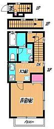 東京都武蔵野市西久保3丁目の賃貸アパートの間取り