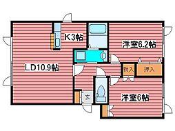 ロジェ福住[2階]の間取り