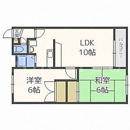 北海道札幌市厚別区厚別中央三条6の賃貸マンションの間取り