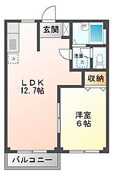 エルデムニイヅツミI[1階]の間取り