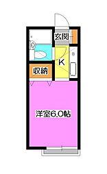 レジデンス美原[2階]の間取り