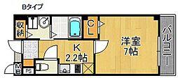 アンソレイエ[1階]の間取り