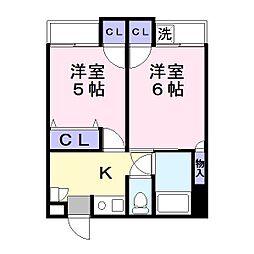 アポローズマンション[1階]の間取り