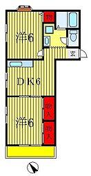 エステートYK[2階]の間取り