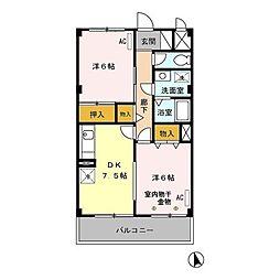 エクセル八雲台[1階]の間取り