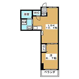 プリモフィオーレ室町[3階]の間取り