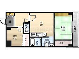 レジデンス鶴見緑地[2階]の間取り