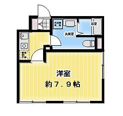 FABRIC飯田橋 4階1Kの間取り