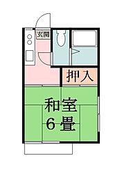 内藤ハイツ[102号室]の間取り