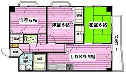 広島県広島市安佐南区長束2丁目の賃貸マンションの間取り