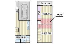 [タウンハウス] 大阪府大阪市鶴見区今津北4丁目 の賃貸【/】の間取り