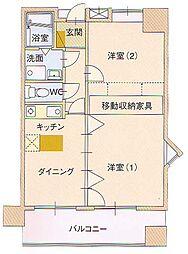 サングレートESAKA2[6階]の間取り